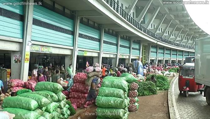 Vegetable stocks pile up at Peliyagoda Market (Video)