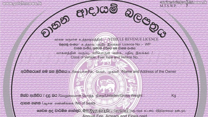 Vehicle revenue licences issuing suspended again