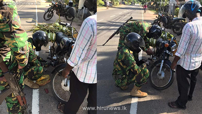 STF officers help a man stranded on road (Photos)
