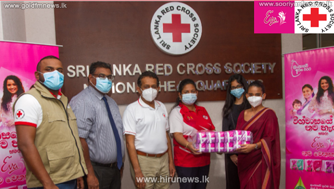 Eva+Joins+Hands+with+Sri+Lanka+Red+Cross+Society+to+provide+for+the+Sanitary+Needs+of+Women+in+Flood-affected+areas