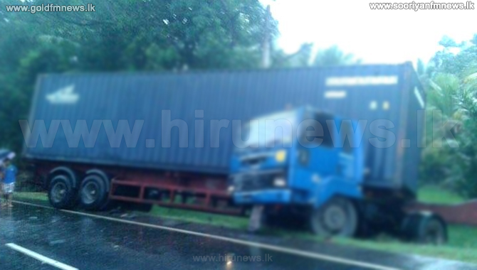 Traffic+on+Galle-Udugama+main+road+disrupted