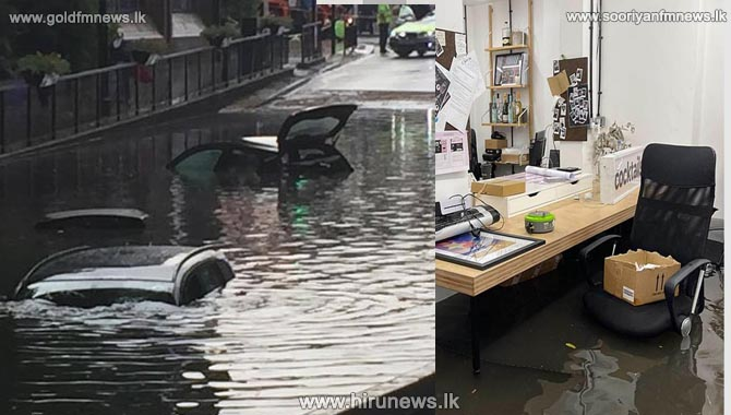 London flooding: vehicles stranded and tube stations submerged after thunderstorms (Video)