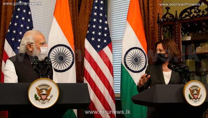 VP Harris and Indian Prime Minister Modi meet