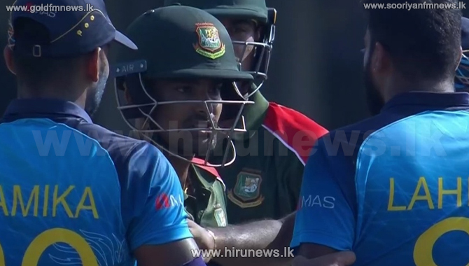 Lahiru Kumara and Linton Das confrontation (Video)